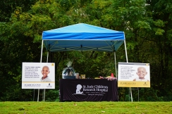 St. Jude Children's Research Hospital tent