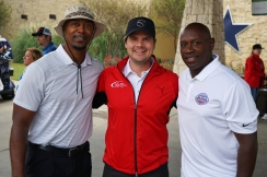 Patrick Crayton (former Dallas Cowboys WR), Tim Hentschel (CEO of HotelPlanner), and Lemuel Stinson (former Chicago Bear DB)